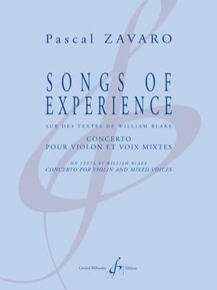 Pascal Zavaro - Songs Of Experience - Sheet Music - di-arezzo.com