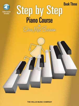 Edna-Mae Burnam - Step by step piano course vol. 3 + CD - Partition - di-arezzo.fr