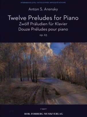 Anton Arensky - 12 Preludes Opus 63 - Sheet Music - di-arezzo.com