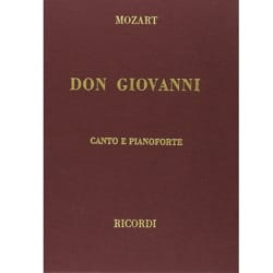Don Giovanni. Edition Reliée - MOZART - Partition - laflutedepan.com