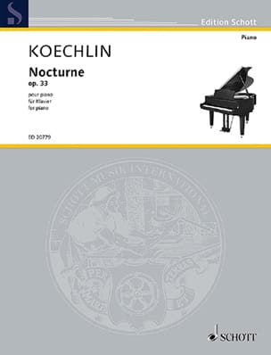 Charles Koechlin - Nocturne Opus 33 - Partition - di-arezzo.fr