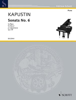 Nikolai Kapustin - Sonate pour Piano n° 6 Opus 62 - Partition - di-arezzo.fr