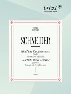 Friedrich Schneider - Sämtliche Klaviersonaten. Band 2 - Noten - di-arezzo.de