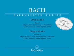 BACH - Orgelwerke. Band 9. Edition révisée - Partition - di-arezzo.fr