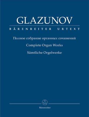 Alexander Glazounov - Oeuvre complète pour orgue - Partition - di-arezzo.fr