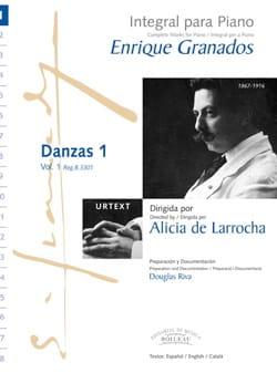 Danzas Volume 1 GRANADOS Partition Piano - laflutedepan