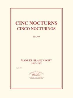 5 Nocturnes Manuel Blancafort Partition Piano - laflutedepan