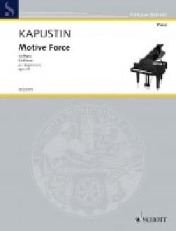 Nikolai Kapustin - Motive Force Opus 45 - Sheet Music - di-arezzo.com