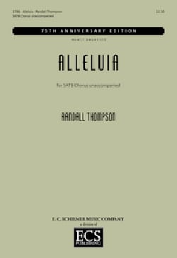 Randall Thompson - Alleluia - Sheet Music - di-arezzo.com
