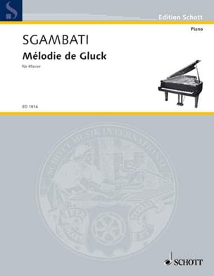 Mélodie de Gluck GLUCK Partition Piano - laflutedepan