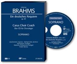 Johannes Brahms - Ein Deutsches Requiem Opus 45. CD Tenor - Partition - di-arezzo.fr