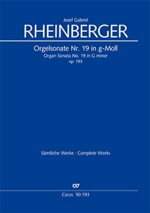 Sonate n° 19 Opus 193 - Josef Gabriel Rheinberger - laflutedepan.com
