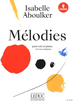Isabelle Aboulker - Melodies for voice and piano - Partition - di-arezzo.com