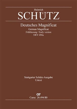 Deutsches Magnificat Swv 494a 1ère version - laflutedepan.com