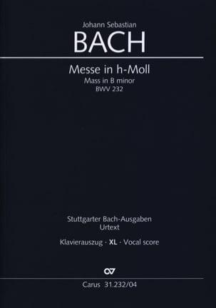 BACH - BマイナーBWV 232 XLフォーマットの質量 - 楽譜 - di-arezzo.jp
