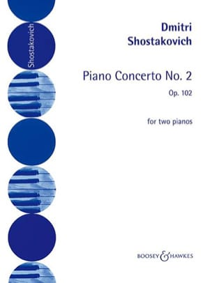 Concerto pour piano n° 2 op. 102 CHOSTAKOVITCH Partition laflutedepan