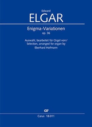 Enigma Variations Opus 36 ELGAR Partition Orgue - laflutedepan