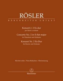 Johann Joseph Rösler - Concerto No. 2 for Pianoforte in E flat major - Sheet Music - di-arezzo.com