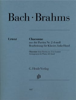 Bach Jean-Sébastien / Brahms Johannes - Chaconne In D Minor. Left hand - Sheet Music - di-arezzo.co.uk