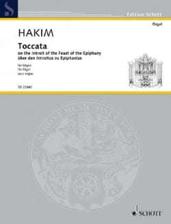 Toccata - Naji Hakim - Partition - Orgue - laflutedepan.com