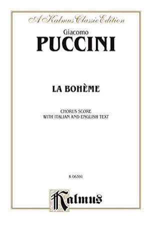 La Bohème. Choeur - Giacomo Puccini - Partition - laflutedepan.com