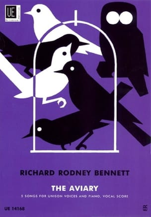 The Aviary Richard Rodney Bennett Partition Chœur - laflutedepan