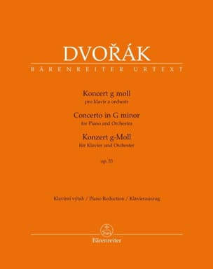 Concerto Pour Piano Opus 33 - Anton Dvorak - laflutedepan.com