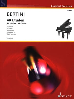 48 Etudes Opus 29 et 32 Henri Bertini Partition Piano - laflutedepan