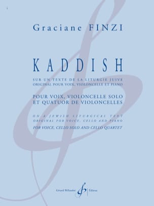 Kaddish Graciane Finzi Partition laflutedepan