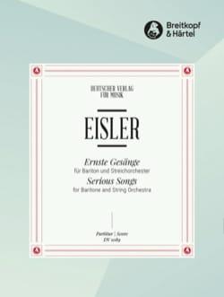 Ernste Gesänge - Hanns Eisler - Partition - laflutedepan.com