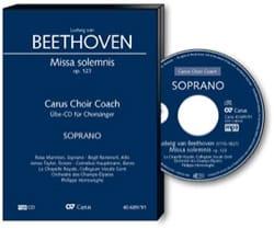 Missa Solemnis Opus 123 CD Tenore BEETHOVEN Partition laflutedepan