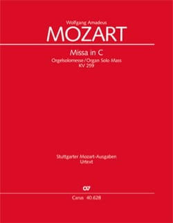 Wolfgang Amadeus Mozart - Missa Brevis Orgelsolo-Messe. Do major. K 259 - Sheet Music - di-arezzo.co.uk