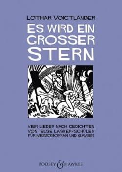 Lothar Voigtländer - Es wird ein grosser Stern - Partition - di-arezzo.fr