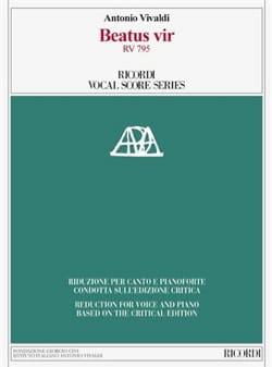 Beatus Vir RV 795 VIVALDI Partition Chœur - laflutedepan