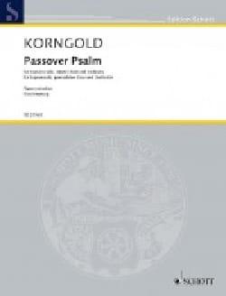 KORNGOLD - Psalm Opus 30 Passover - Sheet Music - di-arezzo.com