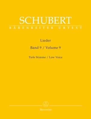 Lieder. Volume 9. Voix Grave - SCHUBERT - Partition - laflutedepan.com