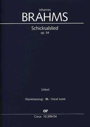 Johannes Brahms - Schicksalslied Opus 54 Large Format - Sheet Music - di-arezzo.com