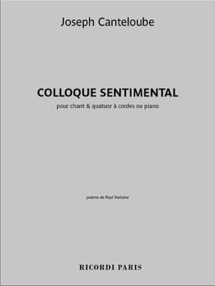Colloque Sentimental Joseph Marie Canteloube Partition laflutedepan