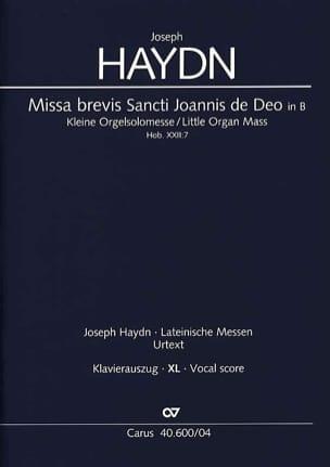 HAYDN - Missa Brevis Sancti Joannis of Deo. Hob 22-7 XL Format - Sheet Music - di-arezzo.com