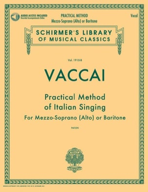 Practical Method of Italian Singing. Voix moyenne laflutedepan