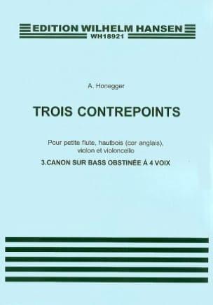 3 Contrepoints HONEGGER Partition Piano - laflutedepan
