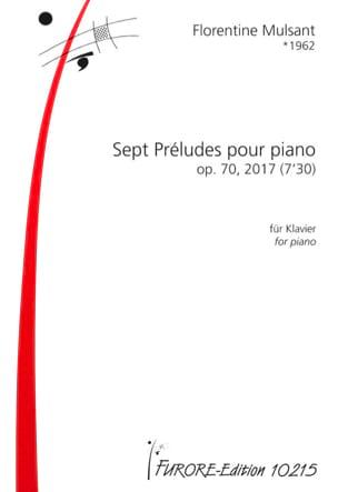 7 Préludes op.70 Florentine Mulsant Partition Piano - laflutedepan