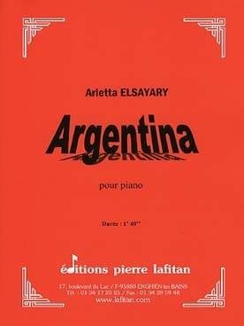 Argentina Arletta Elsayari Partition Piano - laflutedepan