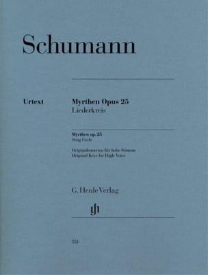 Myrthen Opus 25 Robert Schumann Partition Mélodies - laflutedepan
