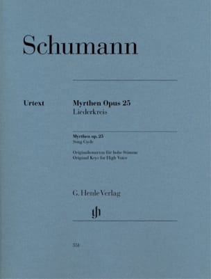 Robert Schumann - Myrthen Opus 25 - Partition - di-arezzo.fr