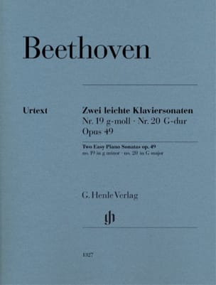 Ludwig van Beethoven - Sonatas Opus 49-1 and 49-2 - Partition - di-arezzo.co.uk