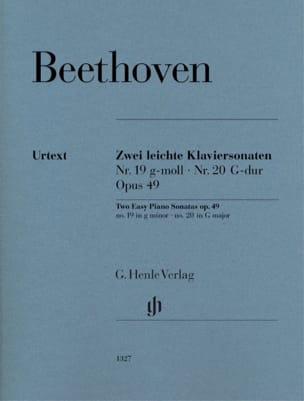 Ludwig van Beethoven - Sonatas Opus 49-1 and 49-2 - Partition - di-arezzo.com
