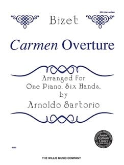 Carmen Ouverture. 6 mains BIZET Partition Piano - laflutedepan