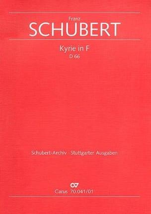 Franz Schubert - Kyrie en fa mineur D66 - Partition - di-arezzo.fr