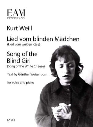 Kurt Weill - Lied vom blinden mädchen - Partition - di-arezzo.es